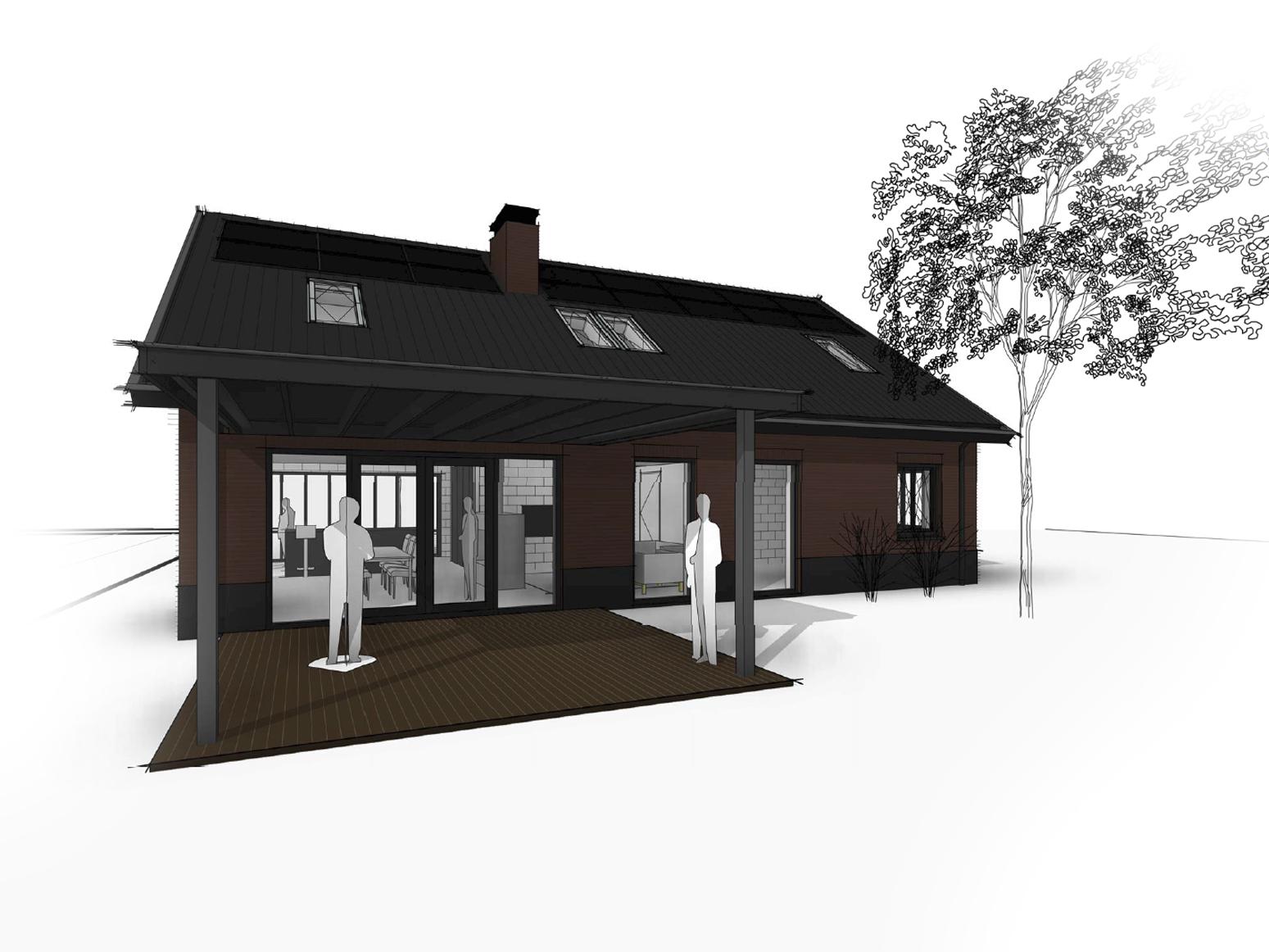 schuurwoning-donker-met-dakpannen-en-dakkapel-twello-van-oord-architectuur-en-design-wenum-wiesel-architect-voorst-architect-apeldoorn