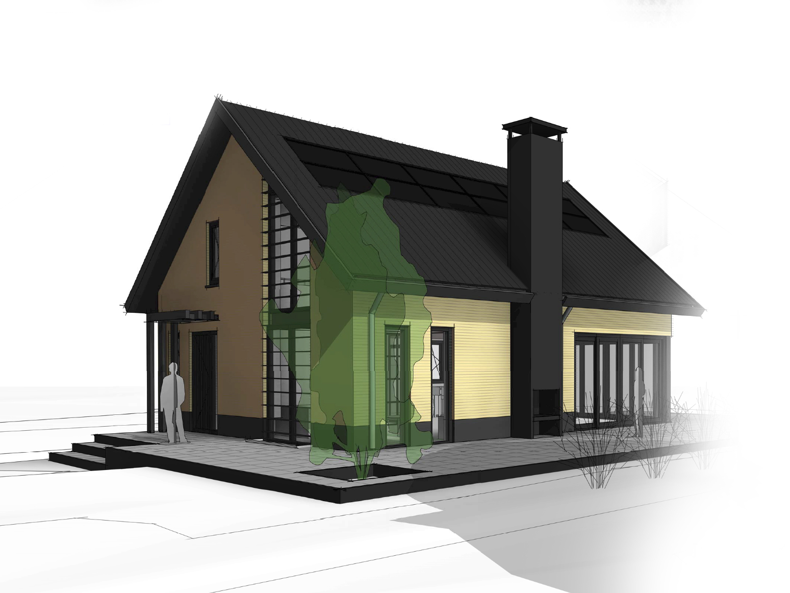 schuurwoning-vrijstaande-woning-eigentijds-vlakke-pan-donker-metselwerk-te-twello-van-oord-architectuur-en-design-architect-voorst-architect-apeldoorn
